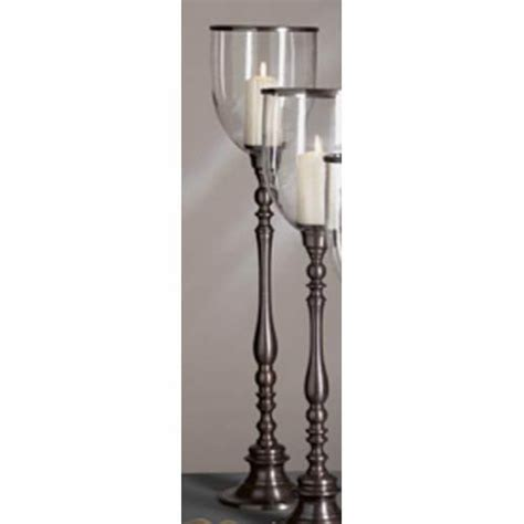 Glass Floor Candle Holders Clear Glass Hurricane Candle Holder Bellacor