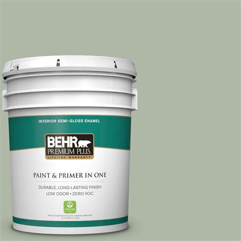 Behr Premium Plus Interior Semi Gloss Enamel by Behr Premium Plus 5 Gal N390 3 Jojoba Semi Gloss Enamel