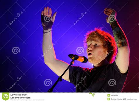 ed sheeran real name ed sheeran performs at fib editorial stock photo image