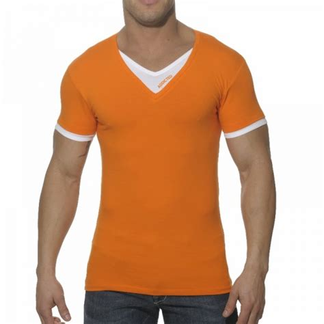 V Neck T Shirts es ad121 v neck effect t shirt on us