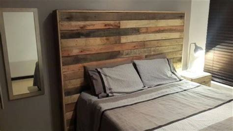 headboard made of pallets diy wood pallet headboard