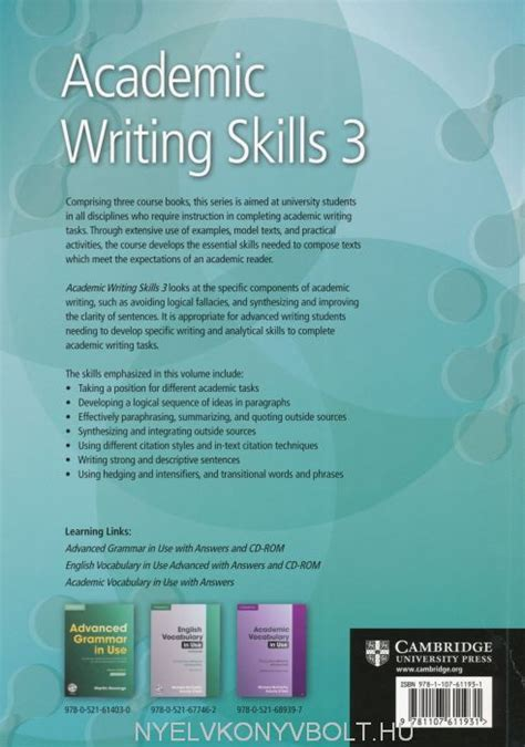 academic writing skills  students book american