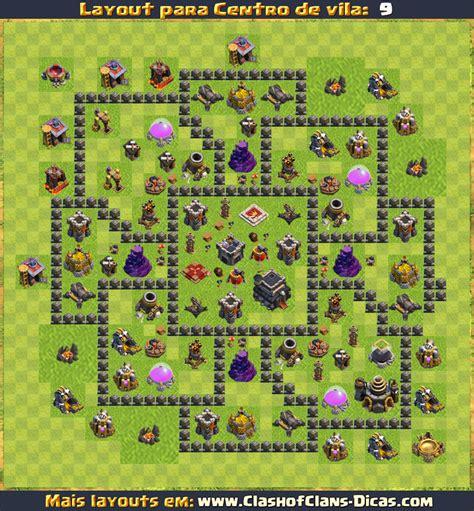 layout quadrado cv 9 layouts para cv9 em clash of clans atualizados clash