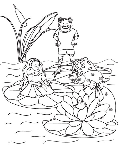 coloring pages thumbelina page3