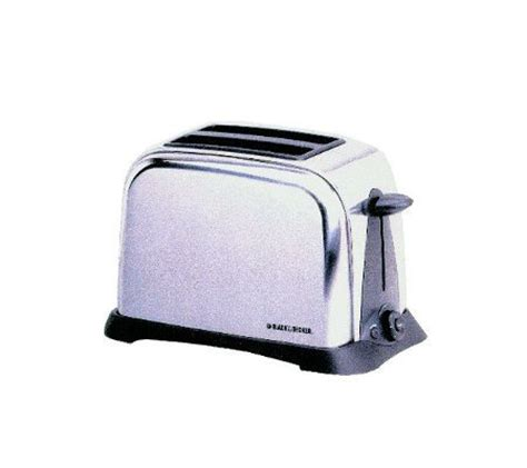 Chrome Toaster Black Decker T6000 2 Slice Chrome Retro Toaster Qvc