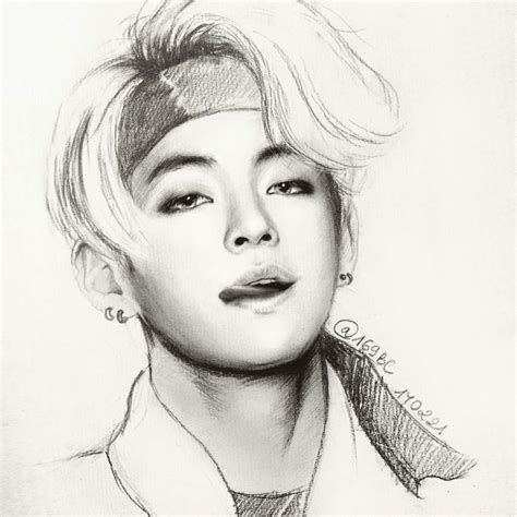 V Drawing Bts Easy by V Not Today Fanart Army S Amino