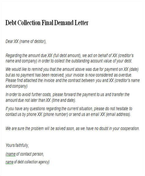 Demand Letter Debt collections demand letter sles docoments ojazlink