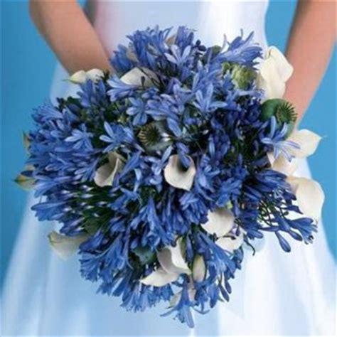 Blue Flower Wedding Bouquet by Wedding Flowers Blue Wedding Bouquets