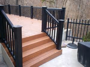 Porch Handrails For Steps St Louis Deck Contractors Timbertech Decking St Louis