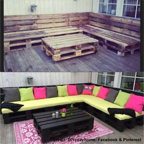 diy outside seating area creating an outdoor seating area with skids diy project