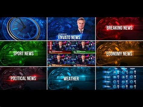 Broadcast Design News Package After Effects Template Youtube Broadcast After Effects Template