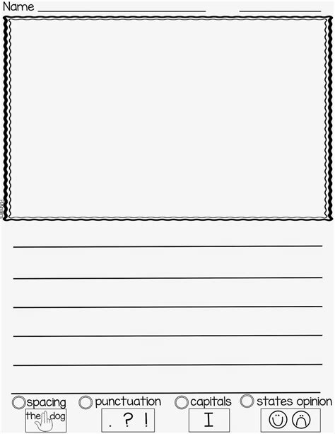 preschool writing paper printable kindergarten writing paper printable free kindergarten