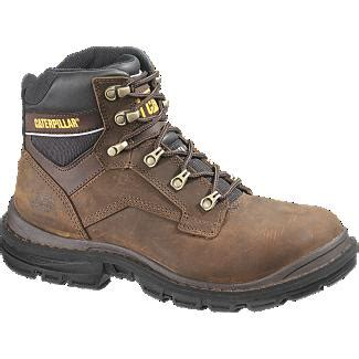Sepatu Boots Caterpillar Bishop Steel Toe Brown Safety Ujung Besi caterpillar generator 6 quot st s work boot brown