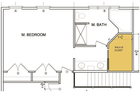 Master Bedroom Closet Measurements Walk In Closet Blueprints In Home Plans Ideas Picture