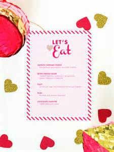 valentines day menu template s day menu template hearts