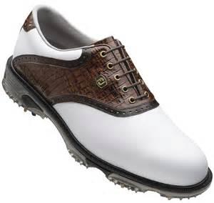 footjoy dryjoys tour golf shoes 53612 white brown lizard