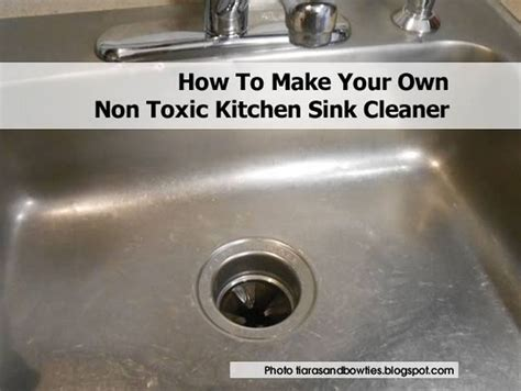 how to make your own non toxic kitchen sink cleaner