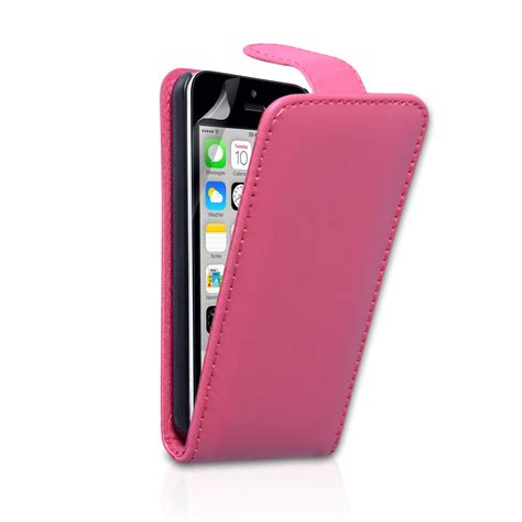 yousave accessories iphone 5c leather effect flip pink