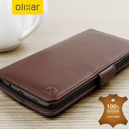 Samsung A8 2016 Flip Wallet Premium Leather Card Slot olixar genuine leather samsung galaxy s7 edge wallet