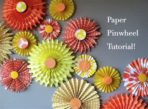 How To Make Paper Pinwheel Decorations - how to make paper pinwheels the easy way honest to nod