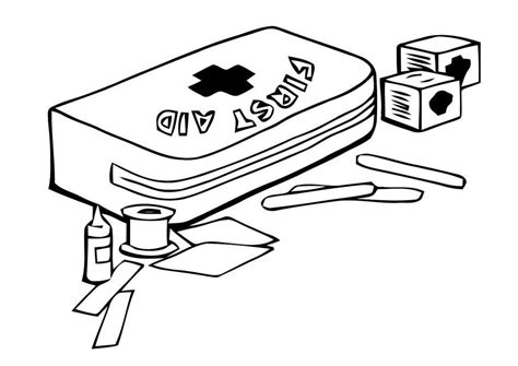 first aid cross coloring coloring pages