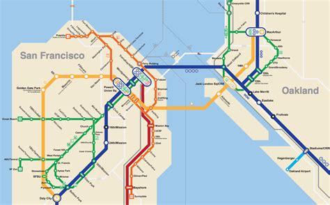 san francisco muni underground map bay area 2050 the bart metro map future travel