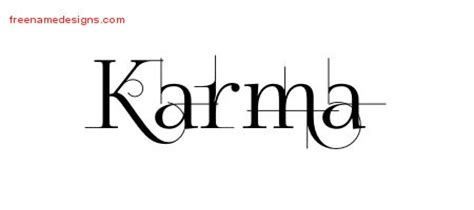 karma archives free name designs