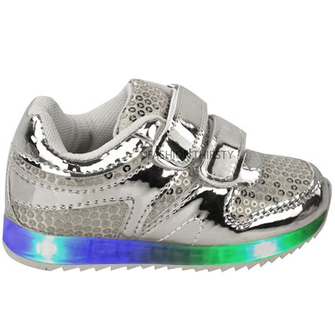 toddler light up shoes babies led light up trainers strappy