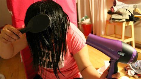 dry hair upside down dry hair upside down asmr blow drying brushing hair upside