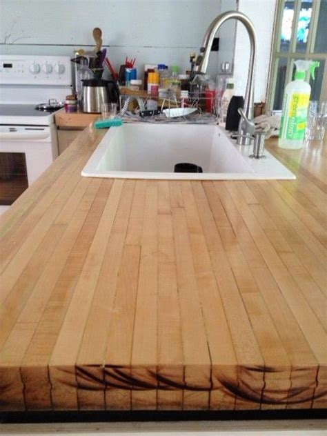 Reclaimed Wood Countertops Diy by Reclaimed Wood From A Bowling Alley Diy Projects