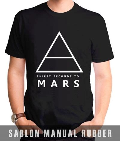 Kaos V Neck 30 Seconds To Mars1 Vnk Ard51 kaos sablon 30 seconds to mars 3 kaos premium