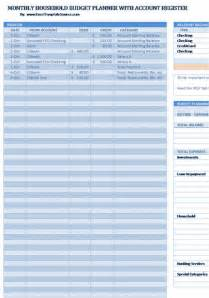 Monthly Budget Planner Template Free Download Monthly Household Budget Planner Template Free Home