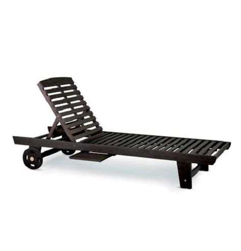 Single Chaise Lounge Chair single eucalyptus chaise lounge chair outdoor deck patio pool furniture lounger ebay