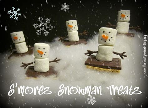 smores snowman treats fun family crafts