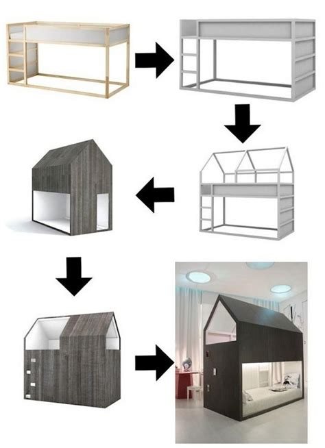 diy ikea loft bed 20 awesome ikea hacks for kids beds hative