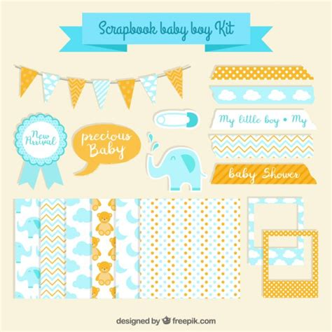 Baby Shower Kit by Scrapbook Baby Shower Kit Vector Free