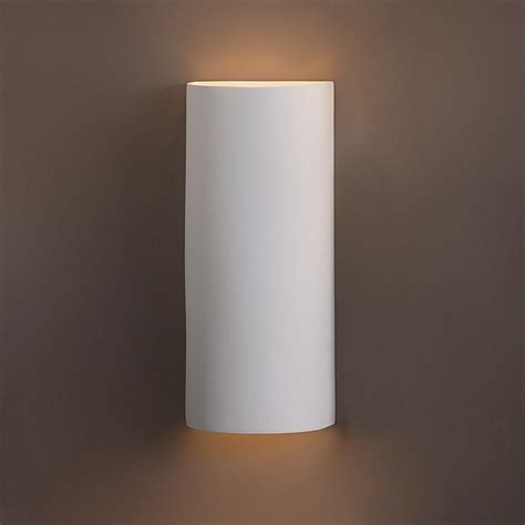 modern wall sconces 8 5 quot x 20 quot contemporary cylinder wall sconce