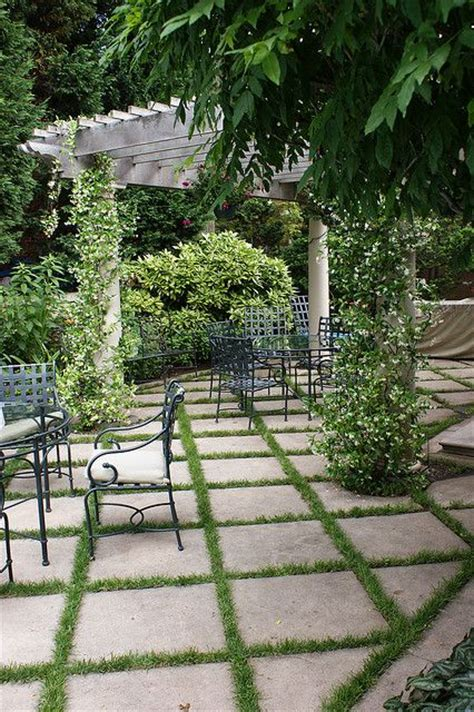 Patio Pavers With Grass Inbetween Like These Patio Tiles With Grass Between Them For My