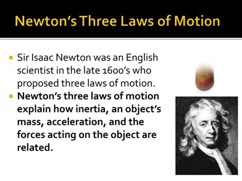 isaac newton biography three laws motion ppt earth s forces powerpoint presentation id 2711155