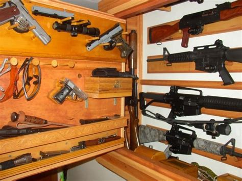 in wall gun cabinet creative closet inserts to hold guns roselawnlutheran