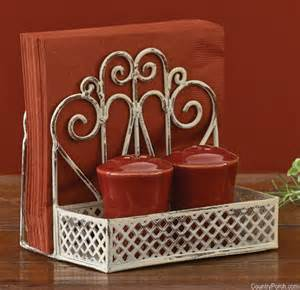 Cream salt amp pepper and napkin holder