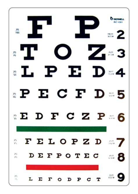 printable vision screening chart distance acuity charts snellen test