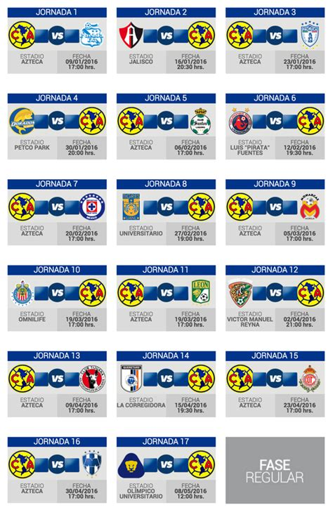Calendario Liga Mx Clausura 2015 Club America Calendario America Bancomer Mx Calendar Template 2017