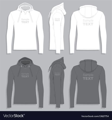 Mens Hoodie Design Template Royalty Free Vector Image Hoodie Design Template Free