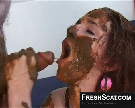 scat whore loves eating shit smearing shit and giving an erotic scat blowjob taking his hot