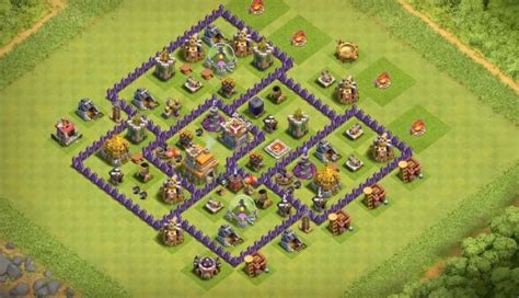 layout th7 farming 8 bomb tower farming base layouts for all town hall level