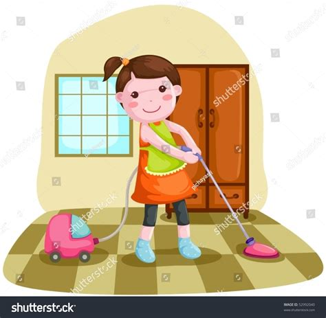 cleaning the house music illustration woman using vacuum cleaner clean stock vector 52992040 shutterstock