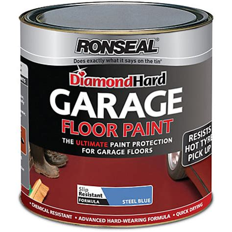 ronseal diamond hard steel blue garage floor paint 2 5l