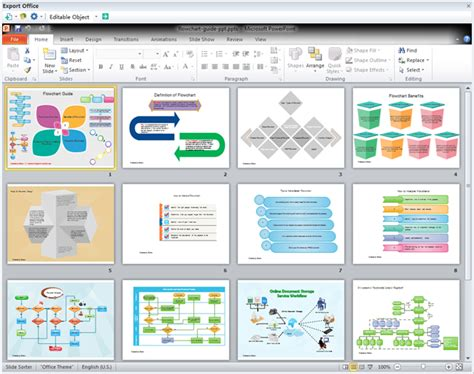 powerpoint tutorial software powerpoint template flowchart guide
