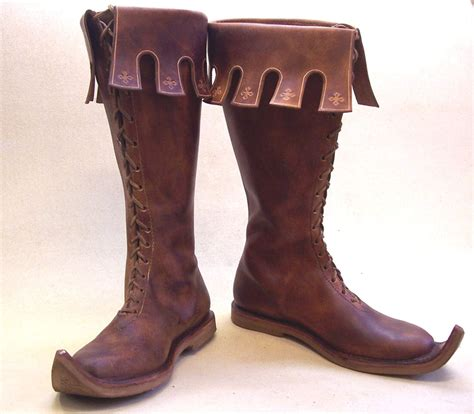 Handmade Leather Boots Renaissance - nottingham high leather shoes boots middle ages